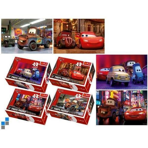 Mini Puzzle v. Cars im 4er Set