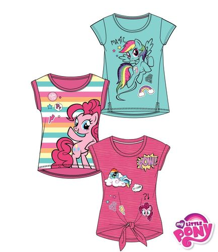 T-Shirts v. My little Pony in drei verschiedenen Designs