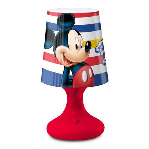 Mini LED Lampe v. Mickey Maus in rot oder blau