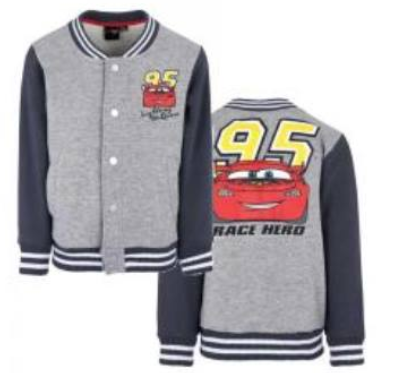 Collegejacke von Cars mit Lightning Mc Queen