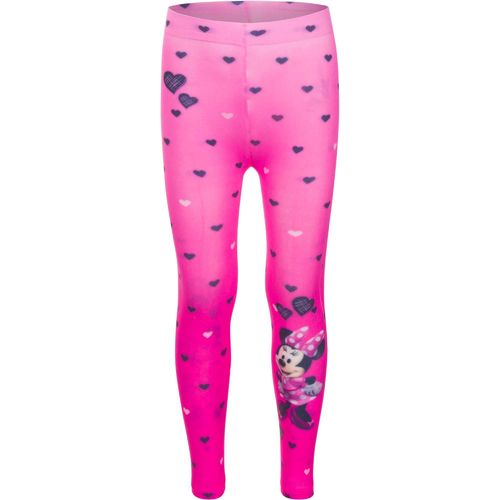 Dünne Leggings von Minnie Maus in Fotodruckoptik